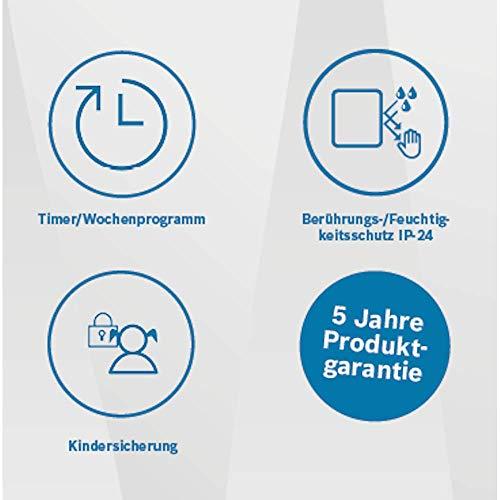 Konvektor Bosch Thermotechnik HC 4000-5 elektro Konverter, 230 V, weiß, für ca. 5 m2 Heizung 8