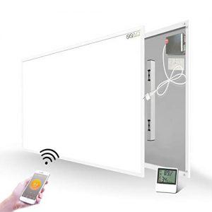 Infrarotheizung Infrarotheizung mit Eingebautem Thermostat Fernbedienung 580W Wandheizung Heizplatte Heizpaneel Infrarot Wandmontage… Heizung 2