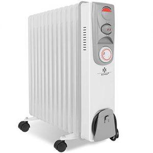 Ölradiator KESSER® Ölradiator – Elektrische Heizung mit 13 Rippen 2500W Öl Radiator Elektroheizung Mobil Timer Lüfter… Heizung
