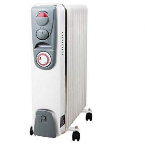 Ölradiator Ölradiator Elektrische Heizung Öl Radiator 11 Rippen 2500W Elektroheizung Mobil Timer Abschaltautomatik… Heizung 2