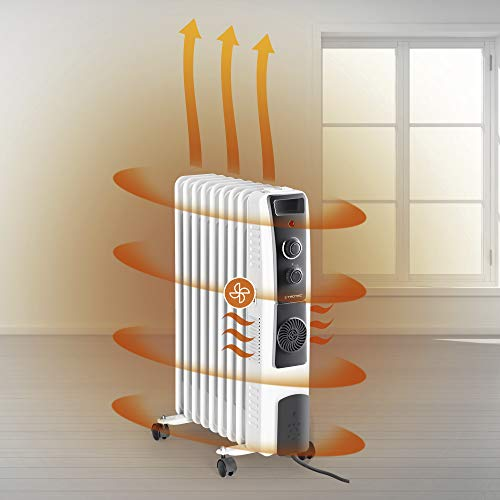Ölradiator TROTEC Ölradiator TRH 22 E – elektrischer, energiesparender Heizkörper mit 9 Rippen, 3 Heizstufen (800/1.200/2.000 Watt… Heizung 3