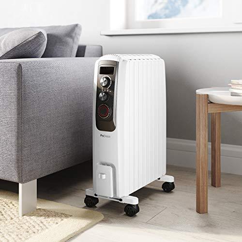Ölradiator Pro Breeze Premium 2000W Ölradiator energiesparend – Elektrische Heizung mit 8 Rippen, 24h Timer Zeitschaltuhr, 3… Heizung 5