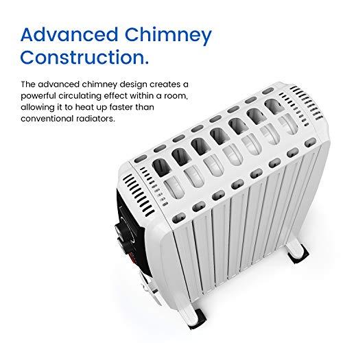 Ölradiator Pro Breeze Premium 2000W Ölradiator energiesparend – Elektrische Heizung mit 8 Rippen, 24h Timer Zeitschaltuhr, 3… Heizung 8