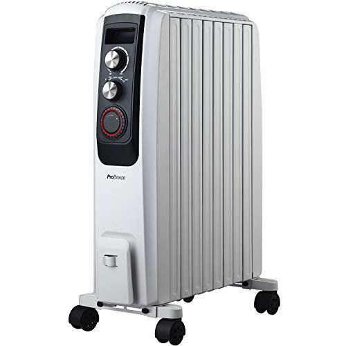 Ölradiator Pro Breeze Premium 2000W Ölradiator energiesparend – Elektrische Heizung mit 8 Rippen, 24h Timer Zeitschaltuhr, 3… Heizung 2