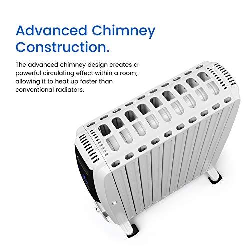 Ölradiator Pro Breeze Premium 2500W Ölradiator energiesparend mit digitalem Display & Fernbedienung – Heizkörper elektrisch mit 10… Heizung 3