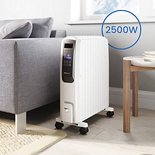 Ölradiator Pro Breeze Premium 2500W Ölradiator energiesparend mit digitalem Display & Fernbedienung – Heizkörper elektrisch mit 10… Heizung 5