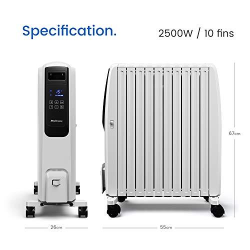 Ölradiator Pro Breeze Premium 2500W Ölradiator energiesparend mit digitalem Display & Fernbedienung – Heizkörper elektrisch mit 10… Heizung 6