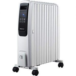Ölradiator Pro Breeze Premium 2500W Ölradiator energiesparend mit digitalem Display & Fernbedienung – Heizkörper elektrisch mit 10… Heizung