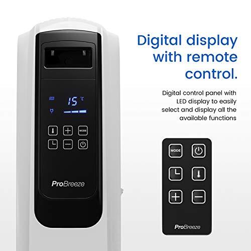 Ölradiator Pro Breeze Premium 2500W Ölradiator energiesparend mit digitalem Display & Fernbedienung – Heizkörper elektrisch mit 10… Heizung 7