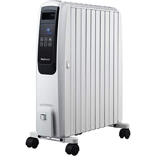Ölradiator Pro Breeze Premium 2500W Ölradiator energiesparend mit digitalem Display & Fernbedienung – Heizkörper elektrisch mit 10… Heizung 2